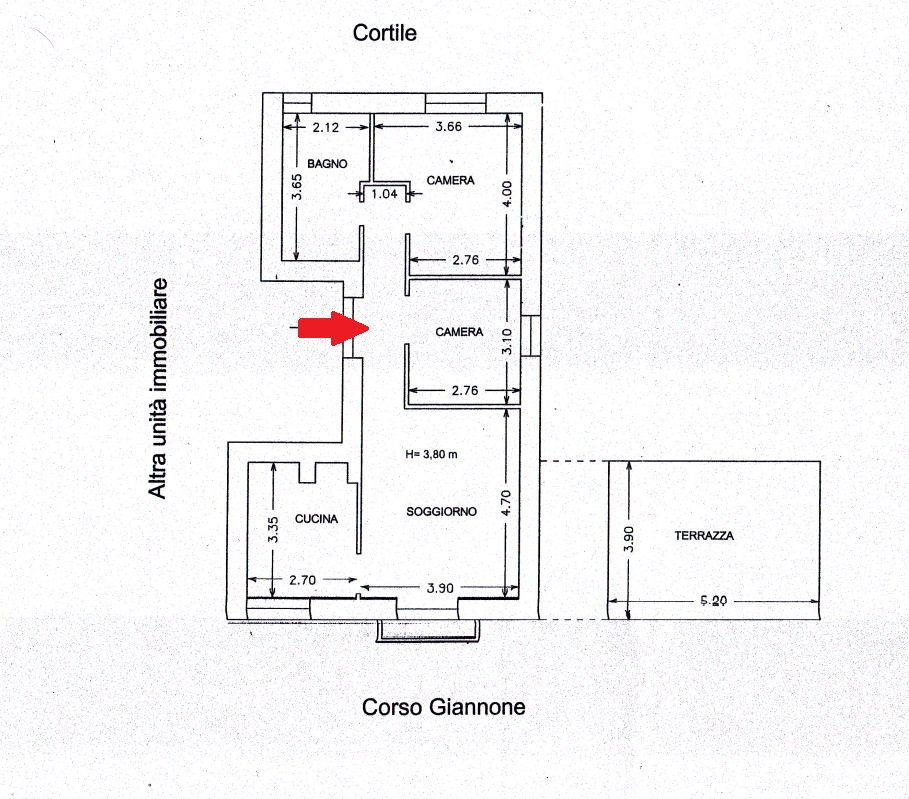 Appartamento in Vendita a Foggia CORSO GIANNONE, 166 – 3 vani + terrazzo