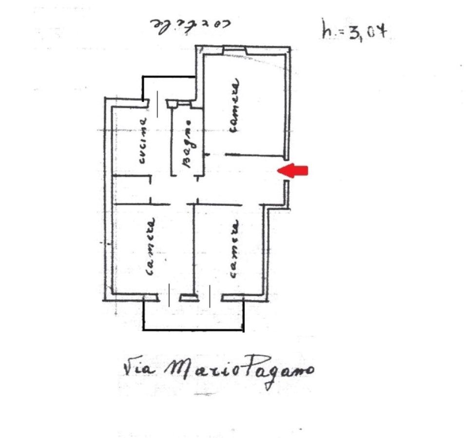 Appartamento in Vendita a Foggia VIA MARIO PAGANO, 47 – 3 vani + acc.